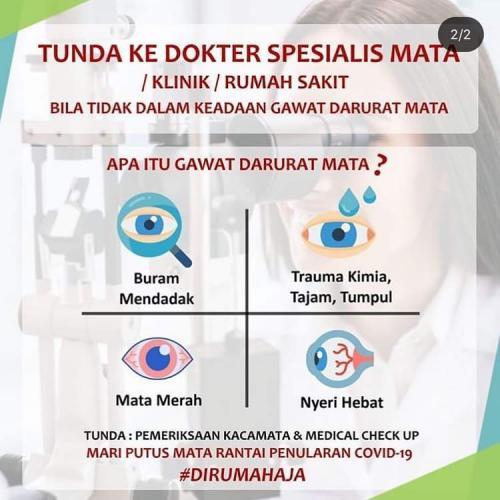 himbauan dokter mata / klinik / rumah sakit